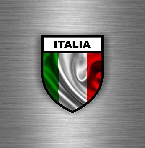 Akachafactory Aufkleber für Auto usw, italienische Flagge