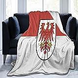 Flanelldecke Flagge Brandenburg flauschig gemütlich warm leicht weich Überwurf Decken Sofa Couch Schlafzimmer Decke