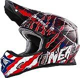 O'Neal 0623–46 - Casco 3series MX Mercury per Motocross, Enduro, Quad, Offroad Cross, colori blu, rosso, bianco, L