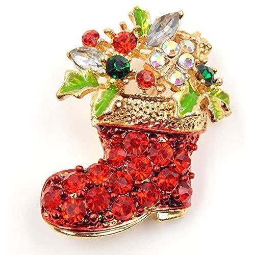 Kerst Kerstdecoratie van strass steentjes voor dames Kerstfeest van rode laarzen ornamenten voor vakantie en nieuwjaarsfeestplezier (4 stuks)
