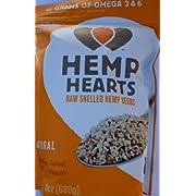HEMP HEARTS RAW SHELLED HEMP SEEDS, NET WT: 1 LB 8 OZ (680 G)