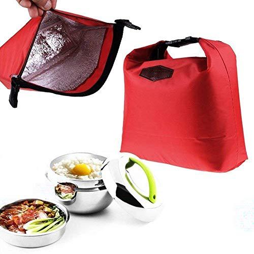 Dragonaur étanche thermique Cooler Sac Portable Lunch Box Sac de rangement de pique-nique isotherme Taille M Red