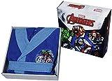 Albornoz con capucha, producto original de Avengers de Marvel, tallas 2,3,4,5,6,7,8,9 años,100 % microrrizo de puro algodón, para niño ANNI 2/3