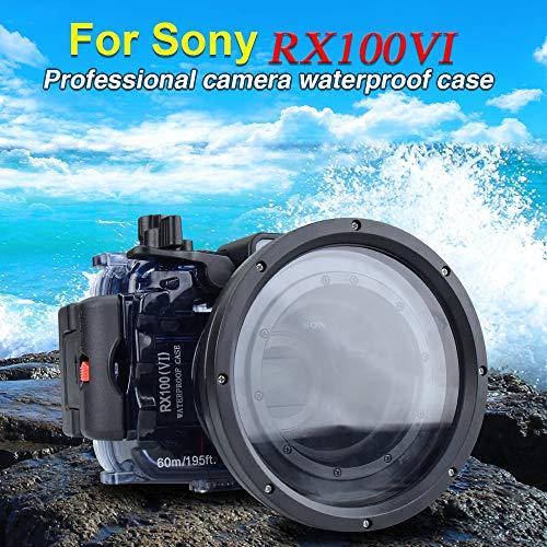 Für Sony RX100 VI 195FT/60M Unterwasser Kamera Tauchen wasserdicht Gehäuse