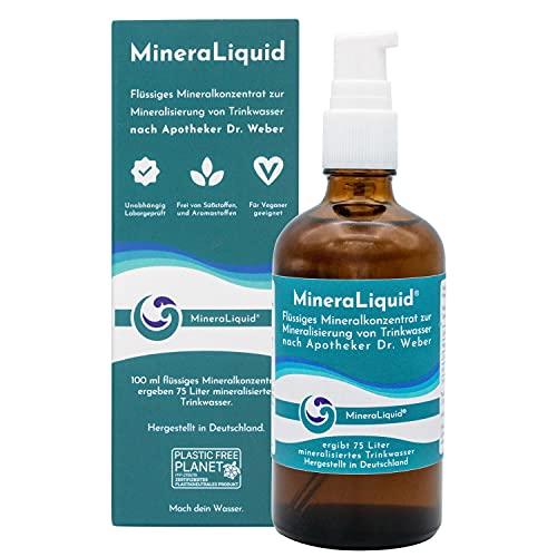 MineraLiquid® Mineralkonzentrat - Elektrolyte für Wassersprudler und Getränke - geschmacksneutral - Flüssige Mineralstoffe und Spurenelemente zum Mineralisieren von Wasser