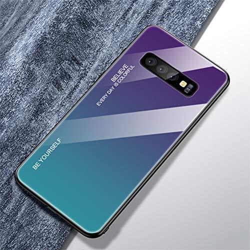 DSRLO Custodia in Vetro per Telefono per Samsung Galaxy S10 Plus S10E M10 M20 A30 A50 A9 A7 A8 A6 J8 J4 J6 Plus S9 S8 Nota 8 9 Gradient Cover