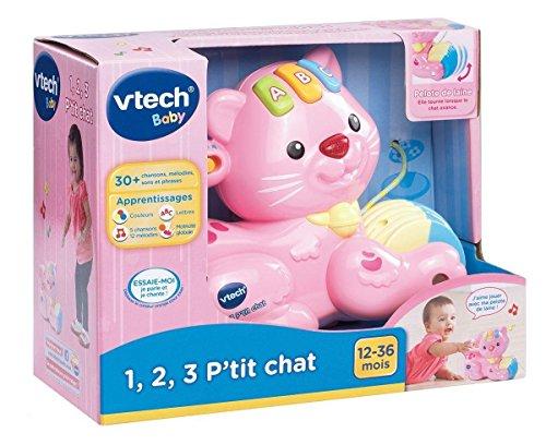 Vtech - 158255 - Jouet À Tirer - 1,2,3 P'tit Chat - Rose - Version FR