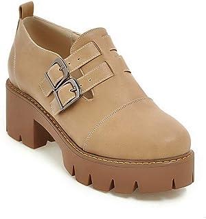 BalaMasa Womens Hiking Travel Solid Urethane Pumps Shoes APL10583