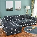 MKQB Funda de sofá geométrica, Funda de sofá elástica elástica, Funda de sofá de Esquina seccional en Forma de L, Funda de sofá de protección para Mascotas n. ° 4 4seat-XL- (235-300cm)