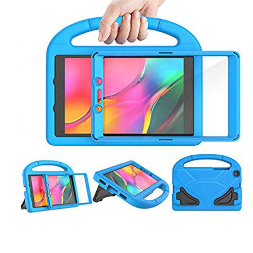 LEDNICEKER Kids Case for Samsung Galaxy Tab A 2019 8.0 Inch SM-T290 / T295, Built-in Screen Protector Shockproof Handle Friendly Stand Kids Case for Galaxy Tab A 8.0 2019 Without S Pen Version - Blue