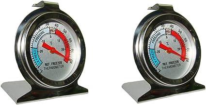 perfk Termómetro de Refrigerador de 2 Partes Termómetro de Horno Termómetro Numérico de La Serie