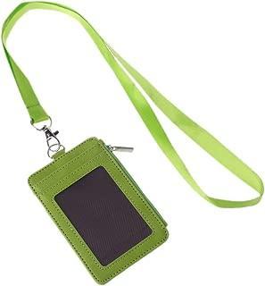Sara-u Leather ID Badge Cards Holder Lanyard Credit Card Case Business Organizer Bag