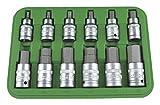 JBM 51260 Piezas de punta hexagonal, verde, 1/2', Set de 12
