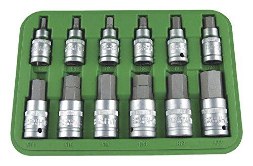 """JBM 51260 Piezas de punta hexagonal, verde, 1/2"""", Set de 12"""