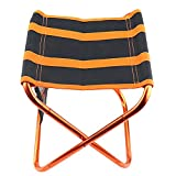 DTTKKUE Silla Plegable de Pescar portátil Camping heces de Aluminio Ligero de Tela Oxford Taburete Libre para IR de excursión Acampar Pesca Playa de Picnic