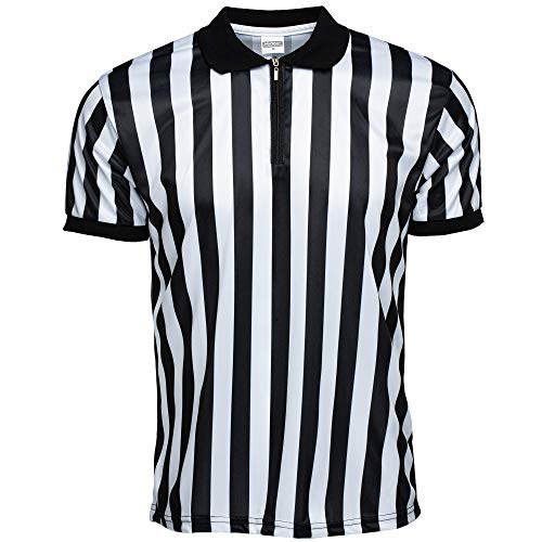 Murray Sporting Goods Men's Official Pro-Style Collared Referee Shirt, Officiating Jersey for Basketball, Football, Volleyball (X-Large)