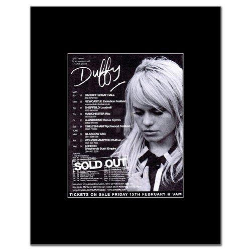 DUFFY - UK Tour 2008 Matted Mini Poster - 14x10.8cm