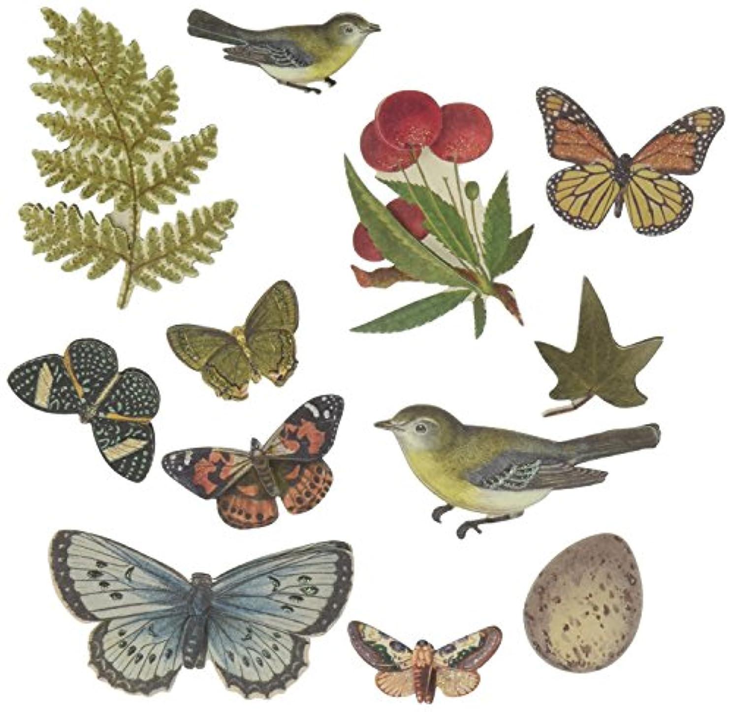 K&Company Brenda Walton Flora & Fauna Layered Accents, Botanical Butterflies