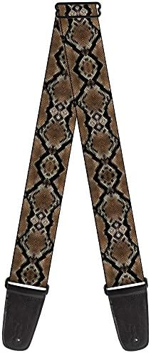 Buckle Down Guitar Strap Snake Skin 1 2 Inches Wide product image