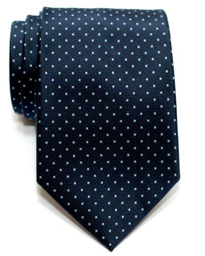 Retreez Cravate Tissée À pois à épingles pour homme - Bleu marin et Bleu clair