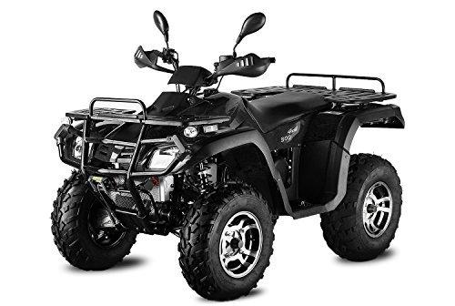 Nitro Motors AUFGEBAUT 300cc Hunter 300-S1 mit Straßenzulassung 4X4 Winch 3X Federung ATV Bike (Camouflage-Army Grün)