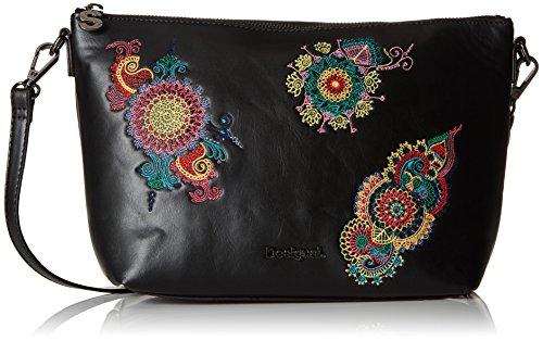 Desigual Bols_delilah Catania Mujer Bolsos bandolera Negro 10.5x20x24.5 cm (B x H...