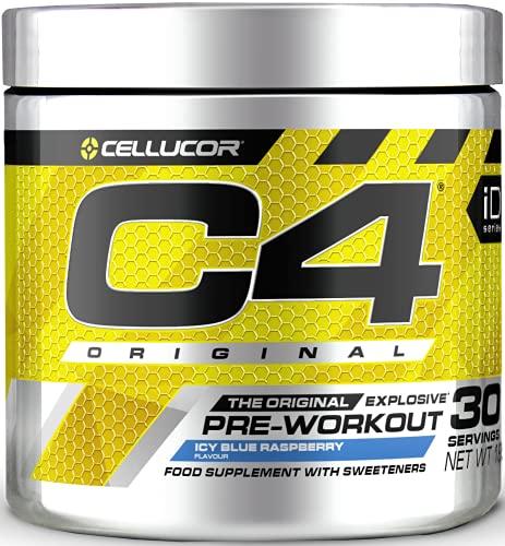 C4 Original Pre-Workout Supplement, Ice Blue Raspberry …