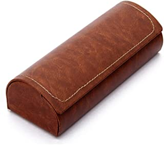 XSWY Aluminum Glasses case Boys Personality Simple Portable Lightweight Pressure Girls Eye Box Small Glasses Box Men Cool (Color : Brown)