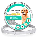 WOLFWILL Flea and Tick Collar for Dogs, Upgrade 10 Month Protection, 26 Inch