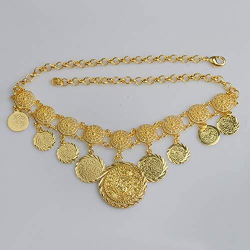 Nobrand Charm Arabische Münzhalsketten für Frauen Gold Farbe Mittlerer Osten Alte Münzen Schmuck Afrikanisches Mädchen