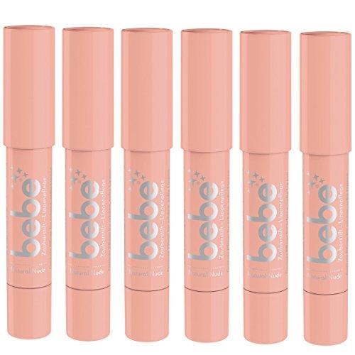 bebe Zauberstift Lippenpflege natural nude,  6 x 2,5 g