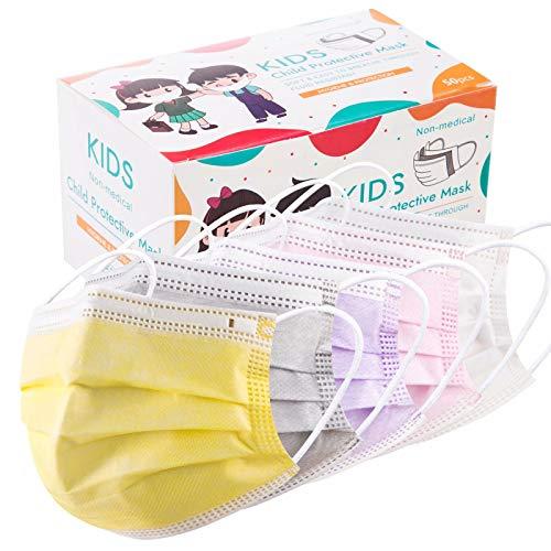 50 PCS Kids Disposable Face Mask - Dust Masks Childrens Safety Masks for Girls Boys