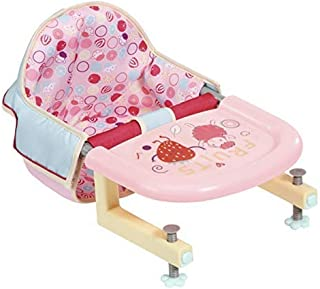 Zapf Creation Baby Annabell Lunch Time Feeding Chair for 43 cm Doll - Adorned with Cute Food Motifs - Easy for Small Hand...