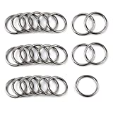 25Pcs 4 X 40mm 304 Stainless Steel O Ring Strapping Welded Round Rings for Camping Belt, Dog Leashes, Hardware (M4 X 40mm OD)