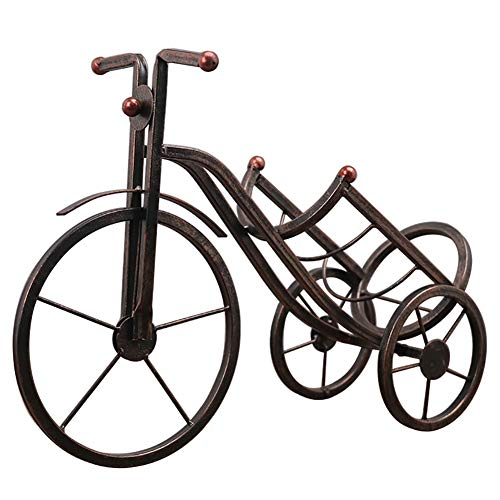 QIU Iron art Products Bicycle Wine Rack Wine Bottle Holder, Table Decorative Gifts for Engagenet, Party, Wedding & More