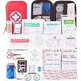 HONYAO Botiquín de Primeros Auxilios 175 Artículos, Mini Kit de Supervivencia -...