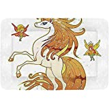 YAGEAD Letra D Cama para Mascotas Simple, símbolo del Alfabeto con Varias Margaritas Diferentes Manzanillas Coloridos pétalos de Verano Decorativos