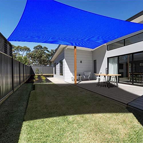 LIUNA Rectángulo Sun Shade Sail 3x4M Bloque UV Bloque De Dosel para Patio Cuarto De Recambio Jardín De Jardín Actividades Al Aire Libre(Color:Azul)