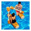 Jeeke Log Stick Set Swim Lounger Inflatable Rafts Blow Up Summer Beach Swimming Pool Party Lounge Raft Decorations Toys Kids Adults, Ship from USA