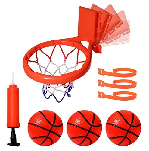 CYFIE Mini Basketballkorb mit Bälle und Pumpe, Badezimmer Basketballkorb Baby Badewannenspielzeug Mini Basketball mit Saugnapf Wasserspielzeug Kinder Spielzeug, 3 Bälle