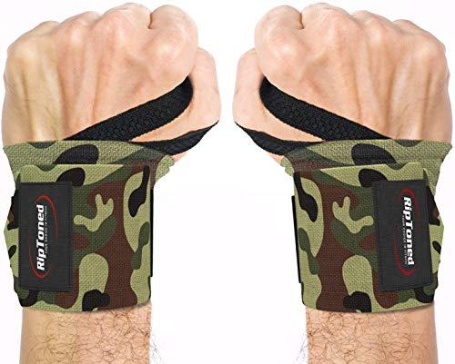 Rip Toned Wrist Wraps by Muñequeras - 18' Professional Grade with Thumb Loops - Wrist Support Braces for Men & Women - Weight Lifting, Crossfit, Powerlifting, Strength Training