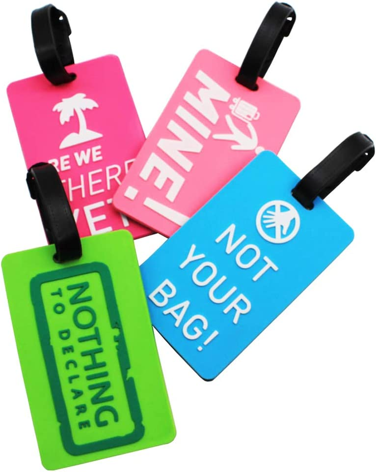Special sale item Mziart Fun Luggage Tags Set Super-cheap Suitcase of Personalized 4 Bag