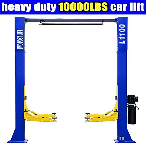 Funwebsurfer L1100 Car Lift 10,000lbs 2 Post Lift Car Auto Truck Hoist w/Overhead Sensor Bar 220Volt