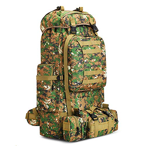 100L Hiking Backpack Outdoor Camping Climbing Tactical Molle Rucksack Removeable Shoulder Straps and Wasit Belt