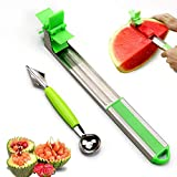 GooKit Melon Stainless Steel Watermelon Slicer Cutter Knife Melon and...