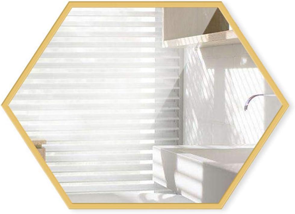 Mirror Iron Bathroom Hotel Regular discount Cosmetic Vanity shopping Toilet Hexagonal