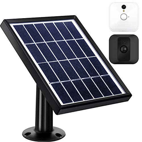 Solar Panel Compatible with Blink XT XT2 Outdoor Indoor Security Camera and an Adjustable Mount, 12 Feet  3.6 m Cable, Supply Power Continuously by Solar Panel (Black)