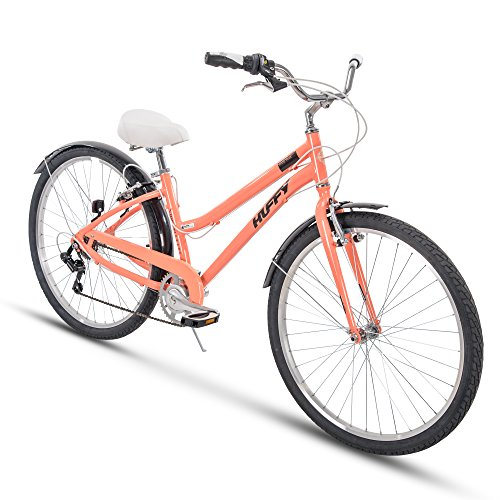 Huffy Womens Commuter Bike, Hyde Park 27.5 inch 7-Speed, Lightweight