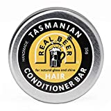 Eco-Friendly Solid Conditioner Bar Real Beer & Honey for Normal Dry Oily or Curly Frizzy Hair | Detangles & Adds Volume | 100% Natural Plastic & Sulfate Free| Beauty and the Bees