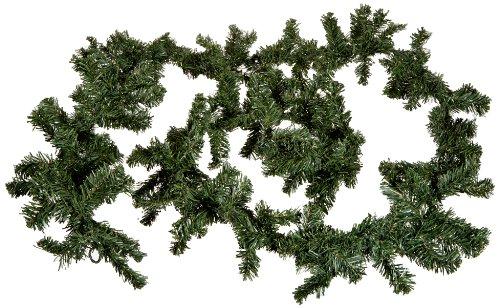 Idena 8585016 Tannengirlande aus Kunststoff, flexibel und biegsam, zum Dekorieren und Basteln für Advent, Weihnachten, Hochzeit, ca. 20 x 270 cm